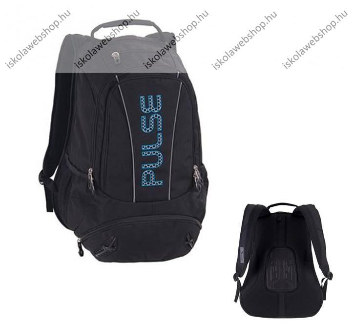 PULSE Sport fekete-kék hátizsák notebokk tartóval - Iskola Webshop 097adee734