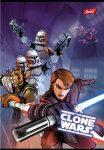 Star Wars/Clone Wars Grafiti 1. osztályos vonalas füzet (vegyes minta), A5/14-32 - Unipap