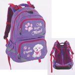 Pulse anatómiai iskolatáska, kutyás/Violet Puppy, lila-rózsaszín