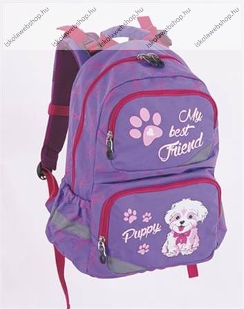 fdc1c5274d11 Pulse anatómiai iskolatáska, Violet Puppy/Kuytás, lila-rózsaszín ...