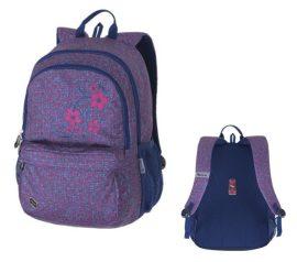 PULSE Spin Pink Flower rózsaszín-kék hátizsák (121199)