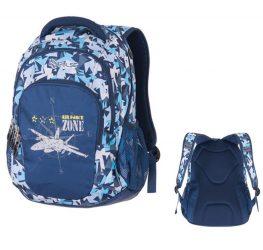 Pulse Teens Air Force Jet/Repülős/Űrhajós kék-fehér hátizsák (121277)