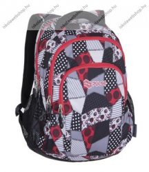 PULSE Teens Red/piros-szürke hátizsák (121291)