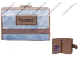 PULSE Jeans Worn Out kék-barna pénztárca
