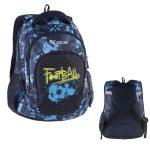 Pulse Teens Blue Football/kék-fekete iskolatáska