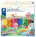 STAEDTLER radíros színesceruza készlet, 24 szín, hatszögletű