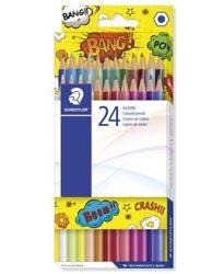 STAEDTLER színesceruza készlet, 24 szín, hatszögletű