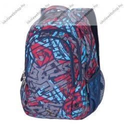 """PULSE """"Blast Blue Labyrint"""" kék-szürke-piros hátizsák (121241)"""