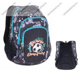 """PULSE """"Teens Black Football"""" szürke-kék hátizsák, Focis (121271)"""