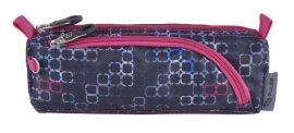 PULSE  bedobós tolltartó, Dobby Light Show szürke-rózsaszín (121433)
