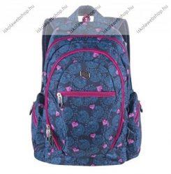 PULSE Dobby Pink Heart, kék-rózsaszín hátizsák (121438)