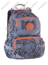 """PULSE """"Basketball League""""/Kosárlabdás, szürke-narancssárga XL anatómiai hátizsák (121470)"""