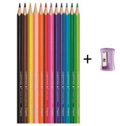 """MAPED """"Color'Peps"""" háromszögletű színesceruza ajándék hegyezővel, 12 szín"""
