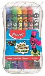 Tempera készlet, 12 szín (12x12 ml) műanyag dobozban - MAPED