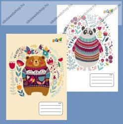 VICTORIA Bears 2. osztályos vonalas füzet, 16-32 (1 db, vegyes minta)