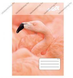 VICTORIA Wildlife kockás füzet, Flamingó, A4/87-32