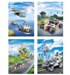 LEGO kockás füzet, 27-36 (1 db)