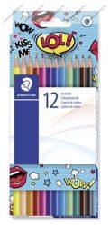 """STAEDTLER """"Comic"""" színes ceruza készlet, hatszögletű, 12 szín"""