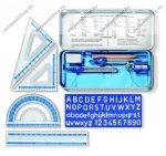 STAEDTLER fémdobozos vonalzó - körző készlet, 10 db-os