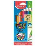 MAPED Color'Peps Star háromszögletű színesceruza készlet, 12 szín