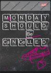 Black - Monday A4 kockás füzet (1 db)