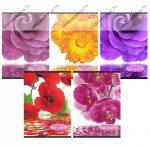 Flowers A4 kockás füzet, vegyes minta (1 db)