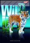 Wild Life - Tigris spirálfüzet, A4, kockás, 96 lap