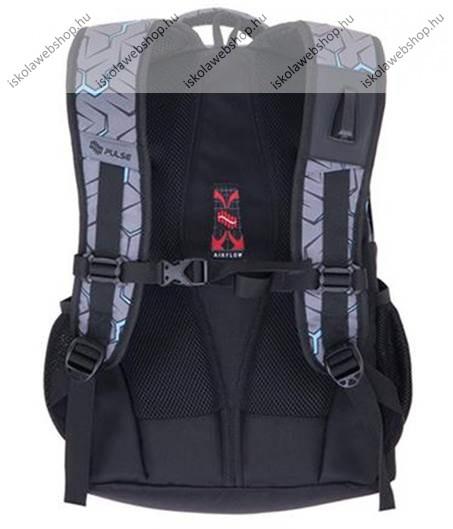 13339f07b23c PULSE Music Charge szürke-fekete hátizsák - Iskola Webshop