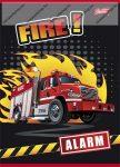 Fire/Tűzoltós kockás füzet, A5/27-32