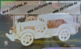 Autó fa modell - 3D kirakó