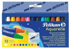 Akvarell zsírkréta/12 szín - Pelikan