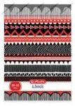 Geometriai vonalas füzet, Piros-fekete, A5/21-32 - Herlitz