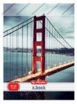 City Amerika - Híd vonalas füzet, A4/87-32 - Herlitz