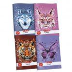 Herlitz World Animals - Pink Hiúz sima füzet, A4/87-32 (1 db)