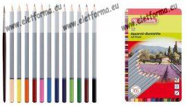 Színesceruza, 12 szín, akvarell, fémdobozos  - Herlitz