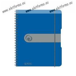 A5 Négyzethálós/Kockás spirálfüzet - Gumiszalaggal, Kék