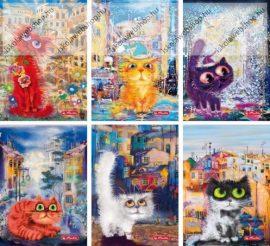 Crazy Cats PP kockás füzet, A5/60 (1 db) - Herlitz