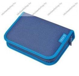 Herlitz kihajtható/klapnis tolltartó, 2 klapnis, Teens- Kék, üres