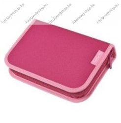 Herlitz kihajtható/klapnis tolltartó, 2 klapnis, Teens- Pink, üres