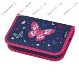 Herlitz kihajtható/klapnis tolltartó, 1 klapnis, Butterfly, üres