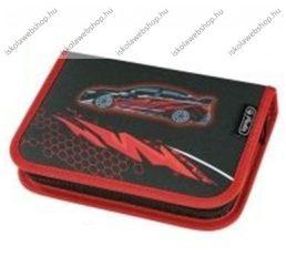 Herlitz kihajtható/klapnis tolltartó, 1 klapnis, Autós, üres
