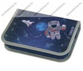 Herlitz kihajtható tolltartó, 1 klapnis, Space/Ürhajós/Repülős, üres