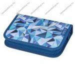 Herlitz kihajtható/klapnis tolltartó, 2 klapnis, Kék geometriai, üres