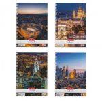 A4 City négyzethálós/kockás spirálfüzet, 70 lap, vegyes minta (1 db) - Herlitz