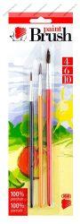 3 db-os Ecsetkészlet Süni, színes (4-6-10) - ICO