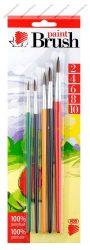 5 db-os Ecsetkészlet Süni, színes (2-4-6-8-10) - ICO