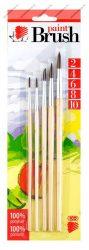 5 db-os Ecsetkészlet Süni, natúr (2-4-6-8-10) - ICO