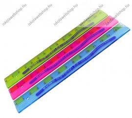 15 cm Hajlékony vonalzó, 1 db, kék vagy zöld- ICO