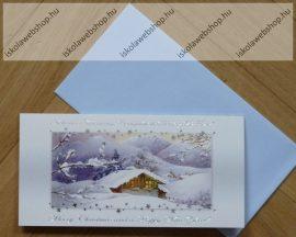 Karácsonyi képeslap borítékkal