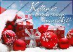 Karácsonyi képeslap, Piros ajándék